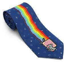 Nyan cat tie