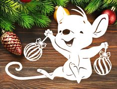 Christmas Stencils, Christmas Projects, Holiday Crafts, Christmas Animals, Christmas Colors, Christmas Holidays, Paper Decorations, Christmas Decorations, Christmas Ornaments