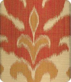 Aladdin Orange Yellow Gold Ikat Fabric