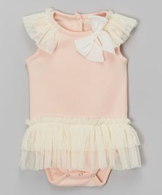 Look what I found on #zulily! Pink Ruffle Skirted Bodysuit - Infant #zulilyfinds