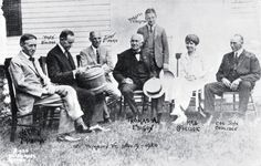 President Coolidge wore a coat & tie while on vacation too. (here in VT w/Thomas Edison, Henry Ford and others, 1923)