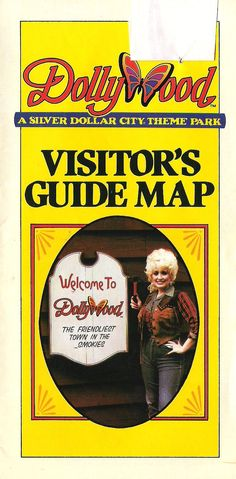 Flashback: The Dollywood Visitor's Guide Map from 1986.