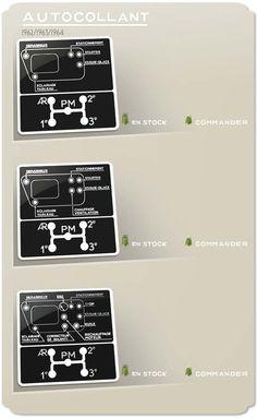 CITROEN HY-autocollant de grille de vitesses-Type H Van sticker aufkleber