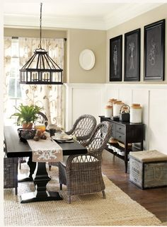 Beautiful! Love the color on the walls! Paint kitchen table black... Maybe. And need two of these chairs as end chairs on kitchen table. Love it.