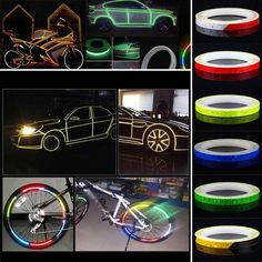 Delicious 5cmx3m Safety Mark Reflective Tape Stickers For Bicycles Frames Motorcycle Self Adhesive Film Warning Tape Reflective Film Cheap Sales Back To Search Resultssecurity & Protection Reflective Material