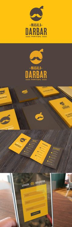 Masala Darbar of Mumbai, India. Restaurant branding and visuals.