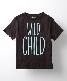 This Black & Light Blue 'Wild Child' Tee - Toddler & Boys is perfect! #zulilyfinds