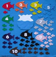 COUNTING WITH FISH BOWLS FELT BOARD FLANNEL by GlitterfulStories,