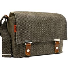 Medium DSLR camera bag with padded insert - brown and beige