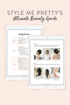 "An important wedding topic that we love to cover? BRIDAL BEAUTY! 💄✨ If you're wondering how to define your style, when your beauty timeline should begin, or which products are considered ""holy grail"" for wedding day prep- we've got you covered! Our Ultimate Beauty Guide not only covers all of the above, but it also includes tips and advice from our LBB beauty pros! Ready to dive in? Head to plan.stylemepretty.com to download your very own digital copy today! 💋 #weddingbeauty #bridebeauty Bridal Beauty, Wedding Beauty, Dream Wedding, Wedding Day, Beauty Guide, Beauty Hacks, Makeup For Older Women, Wedding Makeup Tips, Hollywood Waves"