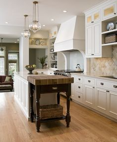 Just Get how to  save space in small kitchen from the interior designer Emily Mackie who worked with the floor plan and managed a super efficient kitchen/dining/study space that becomes the home's center of activity by overlapping the cooking, storage, dining and homework areas as well