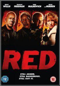 Red [DVD]: Amazon.co.uk: Bruce Willis, Morgan Freeman, John Malkovich, Helen Mirren, Mary-Louise Parker, Richard Dreyfuss, Karl Urban, Jefferson Brown, Ernest Borgnine, Brian Cox, Robert Schwentke: DVD & Blu-ray