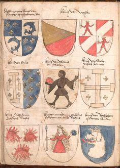 Wernigeroder (Schaffhausensches) Wappenbuch Süddeutschland, 4. Viertel 15. Jh. Cod.icon. 308 n  Folio 10v