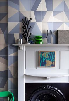 Indoor glazed stoneware wall/floor tiles TANGRAM Atelier Collection by @bardelli