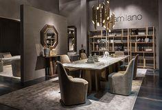 Tables - Collection - Casamilano Home Collection - Italy Luxury Interior Design, Contemporary Interior, Interior Architecture, Interior Decorating, Dining Furniture, Luxury Furniture, Furniture Design, Neoclassical Interior, Exhibition Room