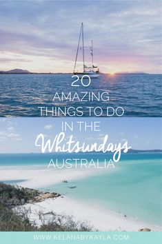 One of Australia's most visited region, home to the Great Barrier Reef and the famous Whitehaven Beach. Here are 20 things to do in the Whitsundays. Auckland, Brisbane, Melbourne, Sydney, Australia Travel Guide, Visit Australia, Australia Honeymoon, Australia 2018, Coast Australia