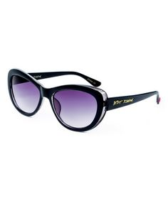 Look what I found on #zulily! Black & Blue Retro Cat-Eye Sunglasses #zulilyfinds
