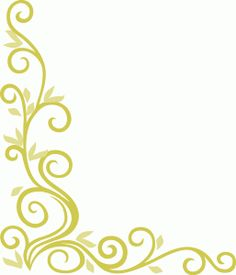 Flourish with leaves corner border design | Silhouette ...