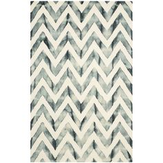 9x12 = $590 Safavieh Dip Dye Ivory & Gray Area Rug