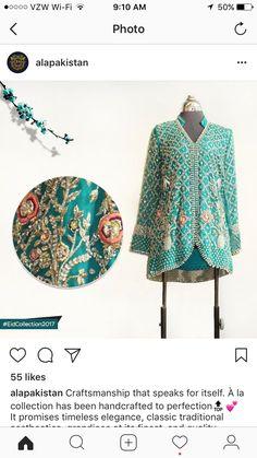 Ala Pakistan Eid Collection 2017, Short Shirts, Wedding 2017, Timeless Elegance, 9 And 10, Envy, Pakistan, Kimono Top, Embroidery