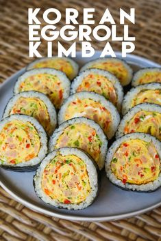 Korean Egg Roll Kimbap Recipe and Video