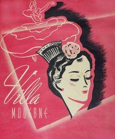 MENU - CHICAGO - VILLA MODRNE RESTAURANT - c1940