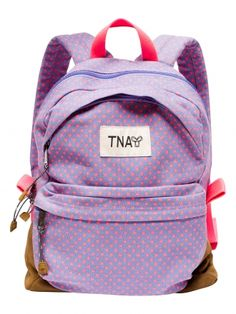 purple and coral polka dot backpack Animal Backpacks, Cute Backpacks, Girl Backpacks, Puppy Backpack, Jansport Backpack, Polka Dot Backpack, Animal Bag, Backpack For Teens, Chanel Handbags