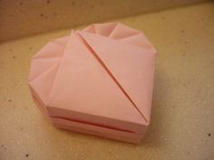 Heart shaped origami boxes from standard copy paper