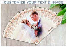 Bridal Shower Hand Fan Beige | Party Favour | Custom Folding Hand Fans Wholesale | Paper Fan Rosettes | Handfan | Hand Fan for Wedding #whitehandfan #weddinghandfan #woodenfan #personalizedfan #beachfan #summerfan #orientalfan #featherfan #festivalfan #handfanframe