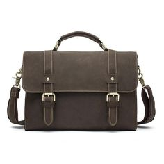 Male Casual Solid Color Laptop Briefcase – Zorket