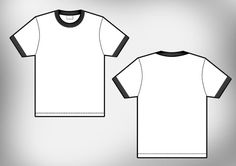 Blank Tshirt Template Vector Front And Back  Template