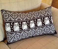 Ravelry: lynnlou63's Owl Fair Isle Cushion