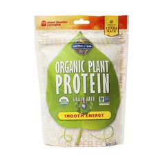 Smooth Energy Organic Plant Protein Powder www.theteelieblog.com Organic Plant Protein is a Certified USDA Organic and Non-GMO Project Verified plant protein supplement that is different to any other protein in the Garden of Life line. Organic Plant Protein is uniquely formulated to have superior taste and texture, ideal for anyone looking for a clean protein supplement that is free of common allergens such as gluten, grains, dairy and soy. #thrivemarket