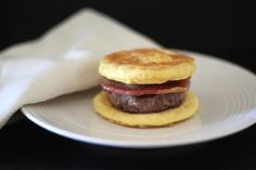 "Some mornings, nothing hits the spot like a breakfast sandwich. Skip the fast food drive-through and doughy English muffin and instead make yourself this wholesome protein-packed Primal Egg McMuffin. Eggs, with no other ingredients added, can easily be made into ""English muffins"" by using a biscuit cutter as a mold. Add a basic burger (seasoned like breakfast sausage, if you like) and a strip of bacon and breakfast is served. A pound (450 g) of ground meat and a dozen eggs will make 6 ..."
