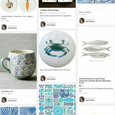 You know how Pinterest is usefull to keep inspirations ideas and projects. I have one album full with visual inspiration for the next tiles. Colors paint effects to try shapes and textures themes etc. Take a look and feel inspired too  http://pin.it/GWZGxYr
