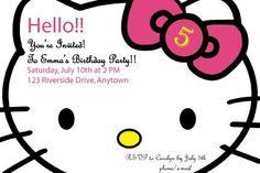 HELLO YOURE INVITES - hello kitty themed party invites