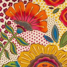 Oopsy Daisy - Canvas Wall Art Marabelle Garden Flowers By Genevieve Gail Swinford, Size: 24 x Yellow Flower Canvas Art, Flower Art, Art Wall Kids, Canvas Wall Art, Zentangle, Folk Art Flowers, Pastel Flowers, Daisy Flowers, Flowers Nature