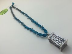 Doctor Who 3D TARDIS Macrame Hemp Necklace (0037) by HemptressDesigns on Etsy