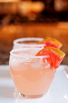 The Paloma – A refreshing Mexican cocktail with tequila, lime and grapefruit! And the sleezy version: tequila, lemon, and Squirt (not Sundrop)