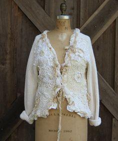 suéter de la Rebeca del reciclado reciclado por BonnieHarris