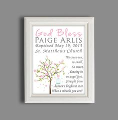 Unique Baptism Gift  Personalized 11X14 by SilverCoastCreations, $28.00