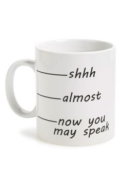 ok, now you may speak. this is how i feel most mornings!