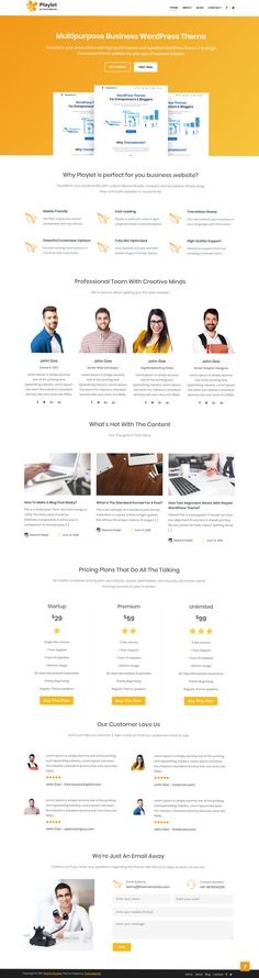 $39 - Playlet Multipurpose WordPress Business Theme  =>  Set up your business website today with our beautifully designed Playlet multipurpose business WordPress theme.   Playlet is an exclusive premium WordPress theme which is -   - Scalable and Secure.  - Mobile Ready.  - Rich in look. - Easy-to-use. - SEO Optimized. - and Easy to Customize.   The best part to purchase a theme from us is you get -  - Live Chat and Email Help.  - Fast and Friendly Support.  - Built-in SEO.