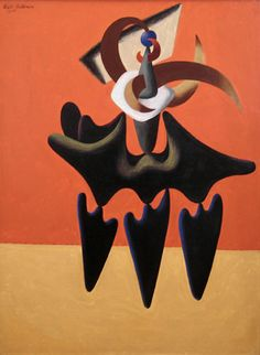 Charles Biederman, Abstraction, 1935, Oil on canvas 42 x 31 3/4 inches