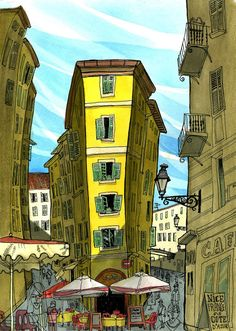 Tommy Kane illustration. I did this in Nice, France.
