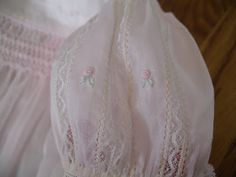 Had not thought of making the sleeve as you as you would a lace bodice, by joining lace together, of multiple insertions. The Old Fashioned Baby Sewing Room