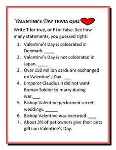10 Best Valentine S Day Trivia Images Valentines Day