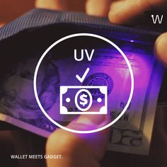 Cash is king - that's why we put UV lamp detector in your Wiseward that helps you establish if a banknote contains protective metal threads, enabling you to tell original banknotes from forged ones.  As this has become a significant problem in some countries, you can verify if a banknote is original as soon as you receive it.