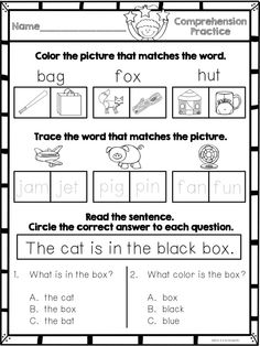 Reading Comprehension Practice for emergent readers!  40 pages of reading comprehension practice!  $