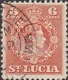 St Lucia 1949 King George VI SG 150 Fine Used SG 150 Scott 139 Other old postage stamps for sale here